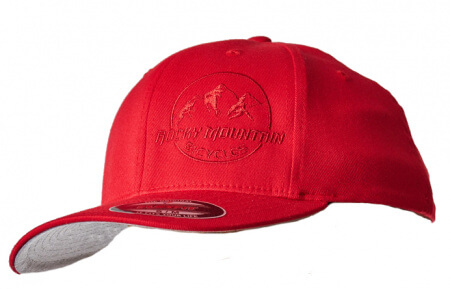HAT LOGO PATCH FLEXFIT RED